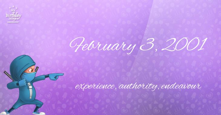 February 3, 2001 Birthday Ninja