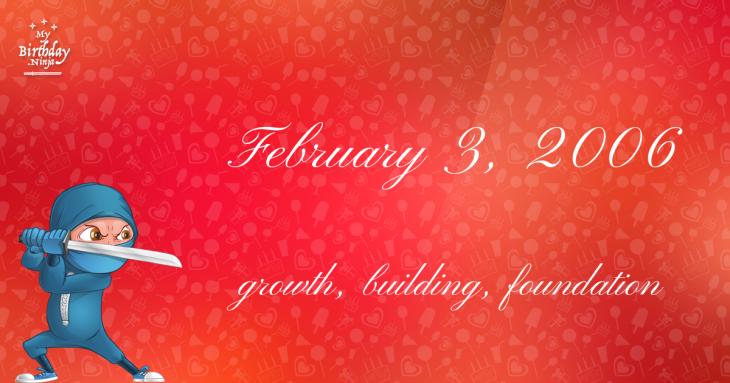 February 3, 2006 Birthday Ninja