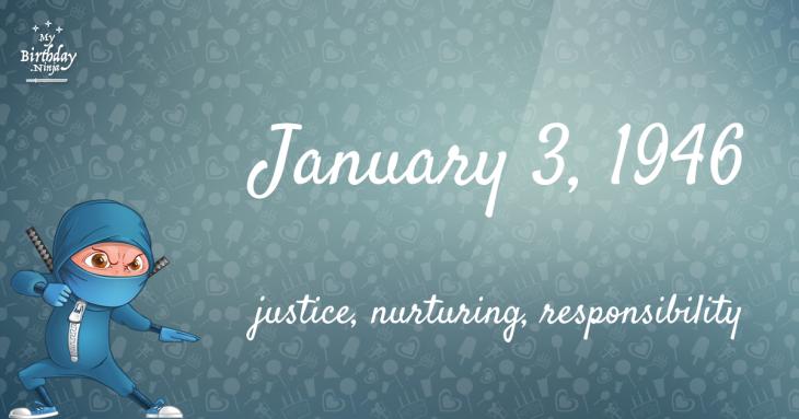 January 3, 1946 Birthday Ninja