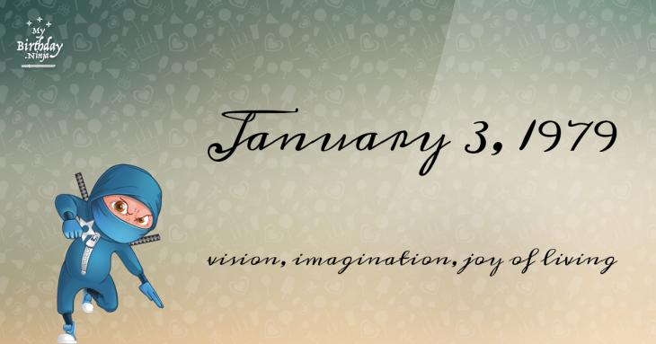 January 3, 1979 Birthday Ninja