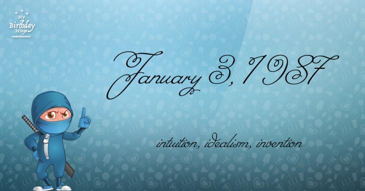 January 3, 1987 Birthday Ninja