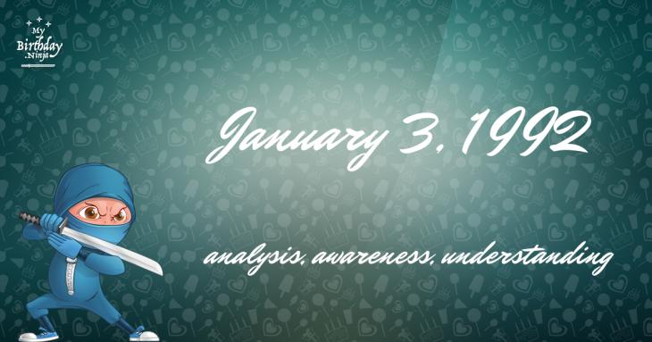 January 3, 1992 Birthday Ninja