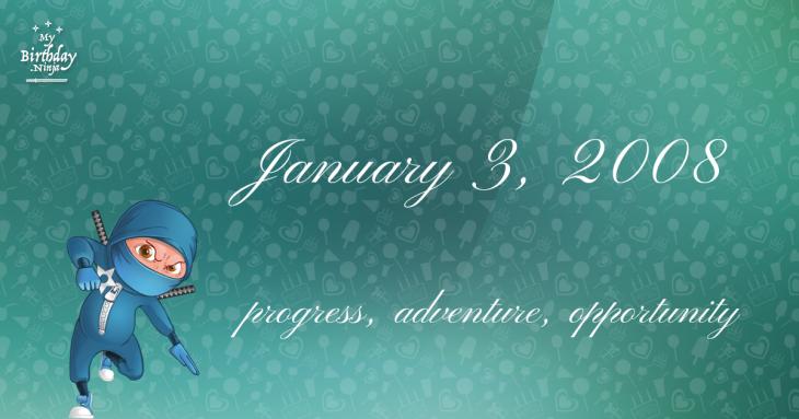 January 3, 2008 Birthday Ninja