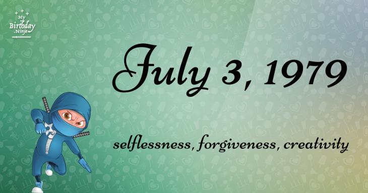 July 3, 1979 Birthday Ninja