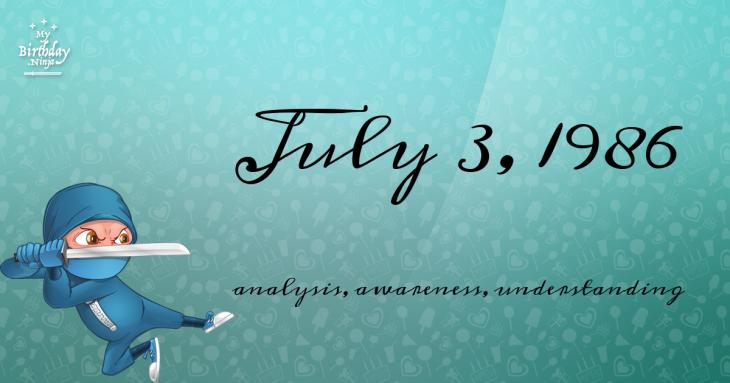 July 3, 1986 Birthday Ninja