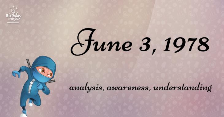 June 3, 1978 Birthday Ninja