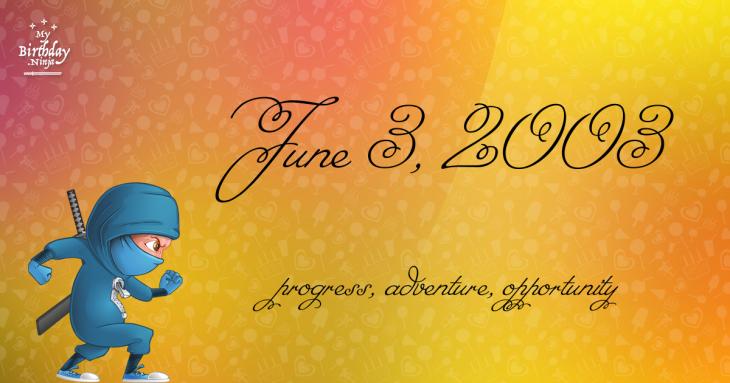 June 3, 2003 Birthday Ninja