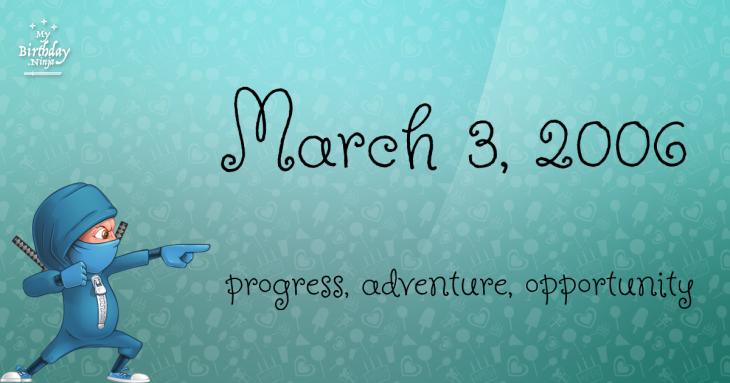 March 3, 2006 Birthday Ninja
