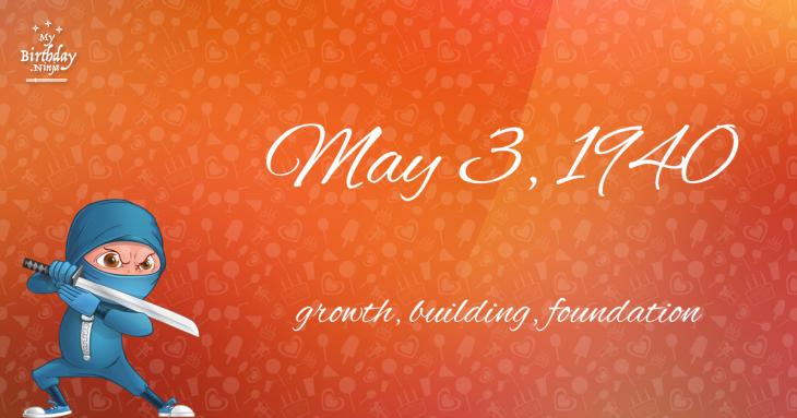 May 3, 1940 Birthday Ninja