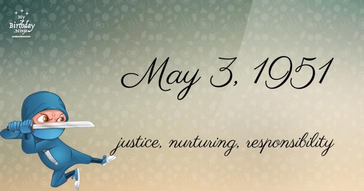 May 3, 1951 Birthday Ninja