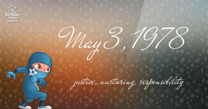 May 3, 1978 Birthday Ninja