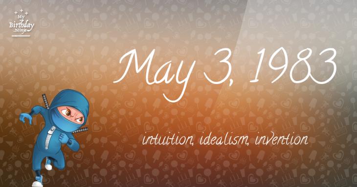 May 3, 1983 Birthday Ninja