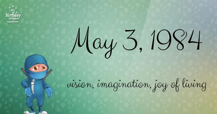 May 3, 1984 Birthday Ninja