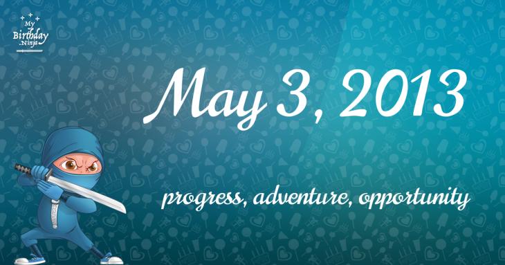 May 3, 2013 Birthday Ninja