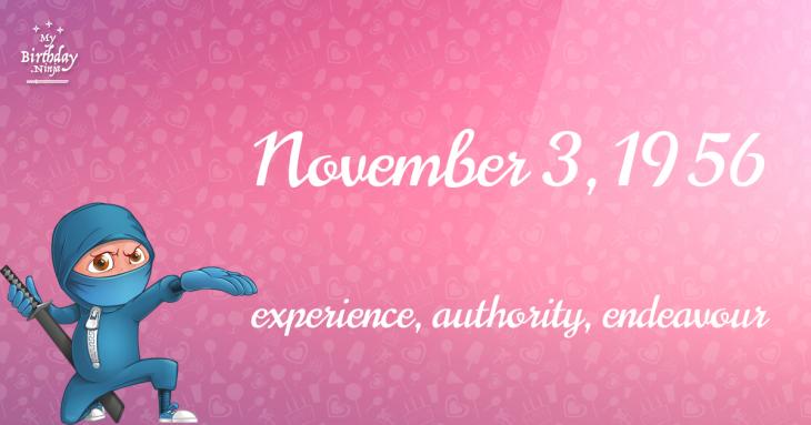 November 3, 1956 Birthday Ninja