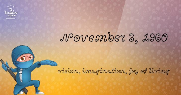 November 3, 1960 Birthday Ninja