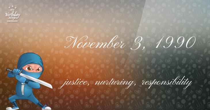 November 3, 1990 Birthday Ninja