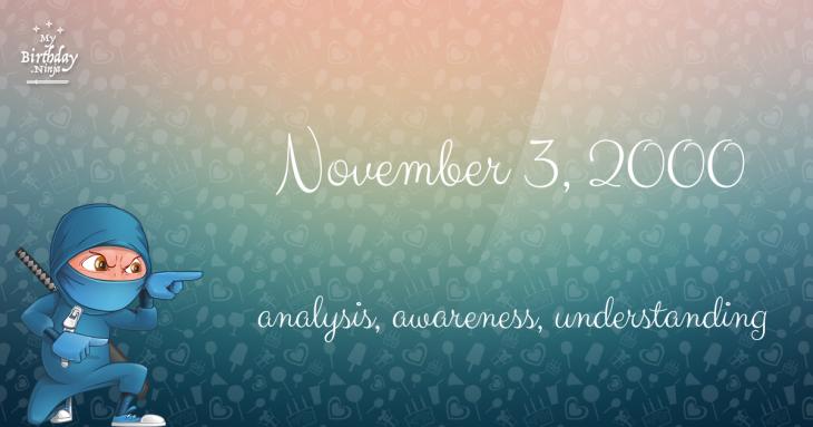 November 3, 2000 Birthday Ninja