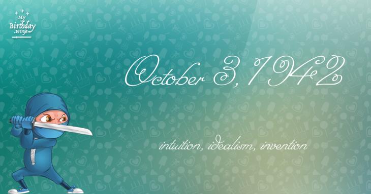 October 3, 1942 Birthday Ninja