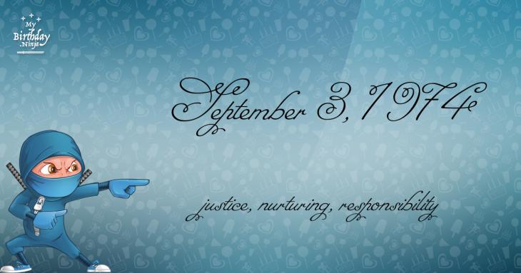 September 3, 1974 Birthday Ninja