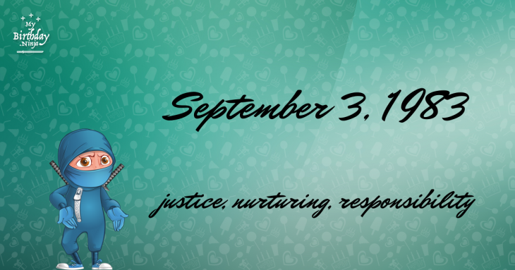 September 3, 1983 Birthday Ninja
