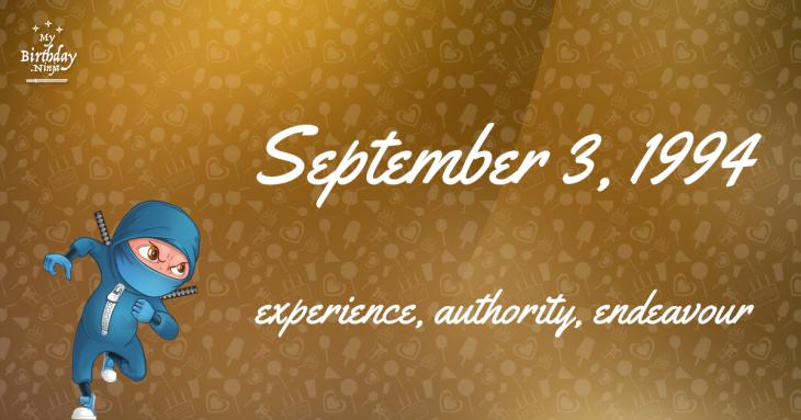 September 3, 1994 Birthday Ninja