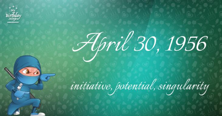 April 30, 1956 Birthday Ninja