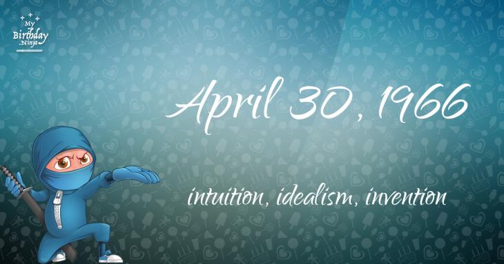 April 30, 1966 Birthday Ninja