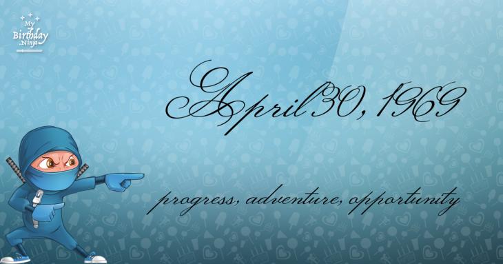 April 30, 1969 Birthday Ninja