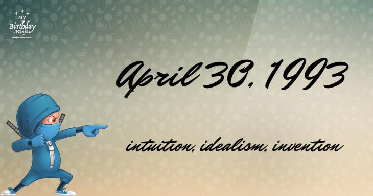 April 30, 1993 Birthday Ninja