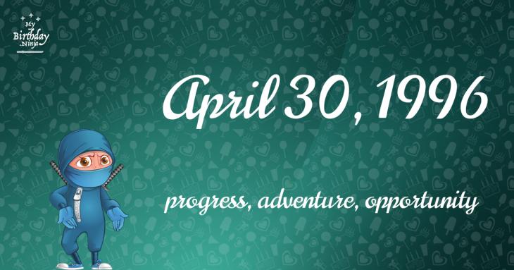 April 30, 1996 Birthday Ninja