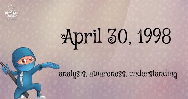 April 30, 1998 Birthday Ninja