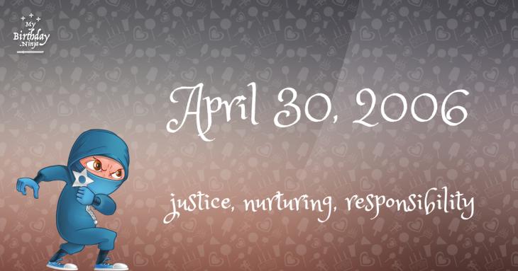 April 30, 2006 Birthday Ninja