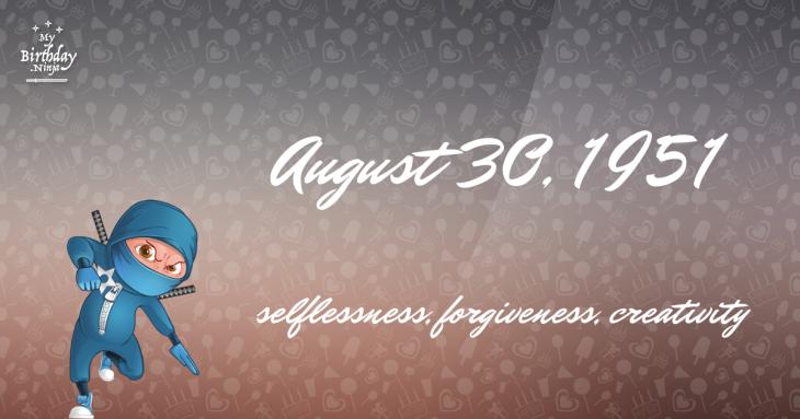 August 30, 1951 Birthday Ninja