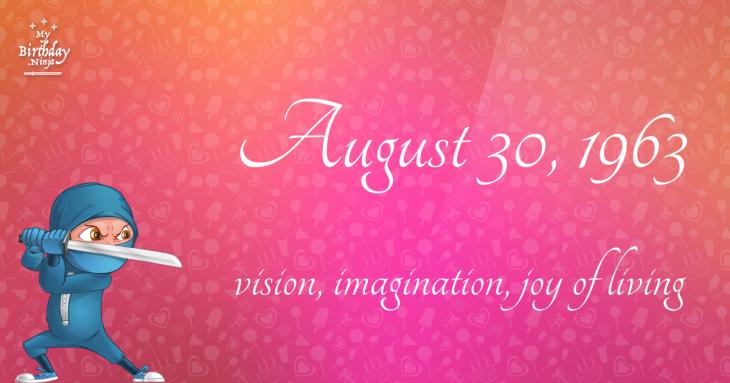 August 30, 1963 Birthday Ninja