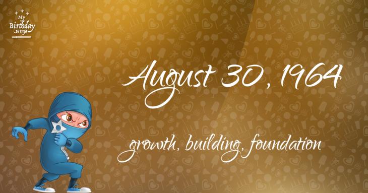 August 30, 1964 Birthday Ninja