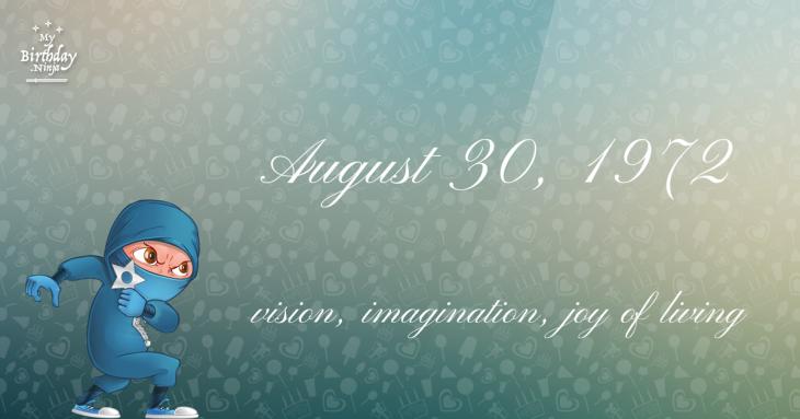 August 30, 1972 Birthday Ninja
