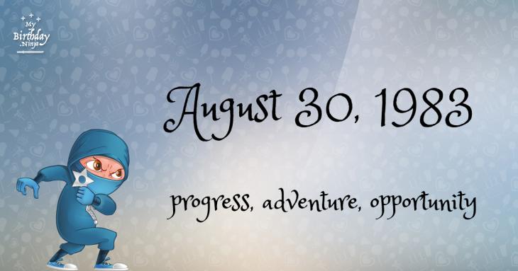 August 30, 1983 Birthday Ninja