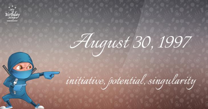 August 30, 1997 Birthday Ninja