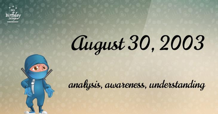 August 30, 2003 Birthday Ninja
