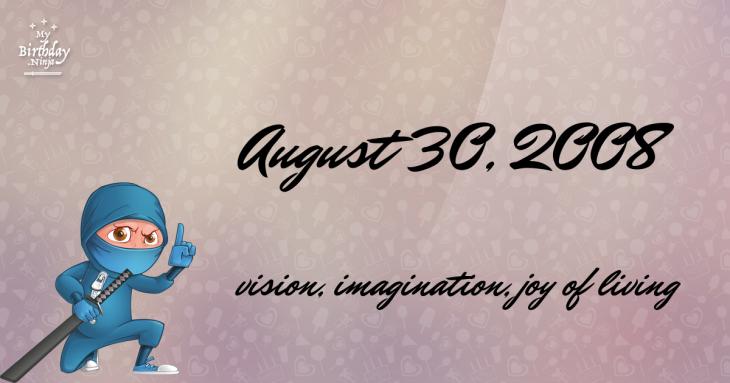 August 30, 2008 Birthday Ninja