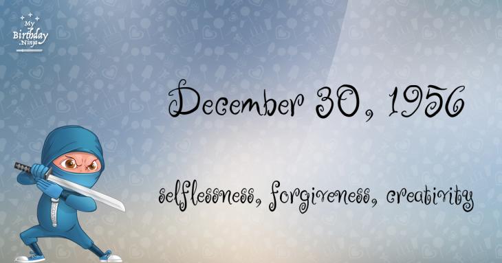 December 30, 1956 Birthday Ninja