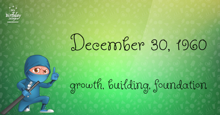 December 30, 1960 Birthday Ninja