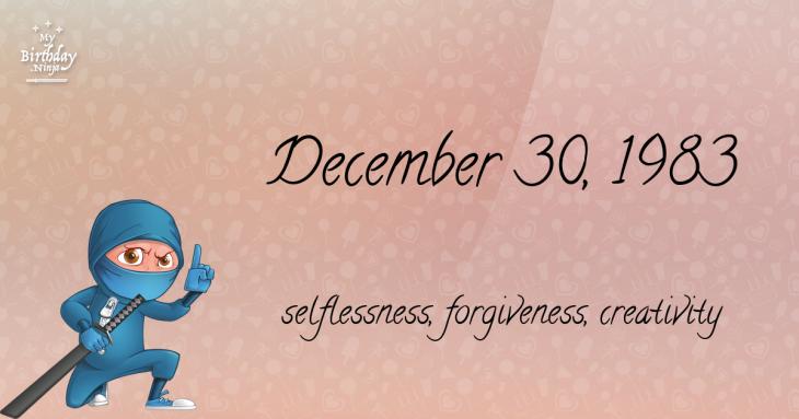 December 30, 1983 Birthday Ninja