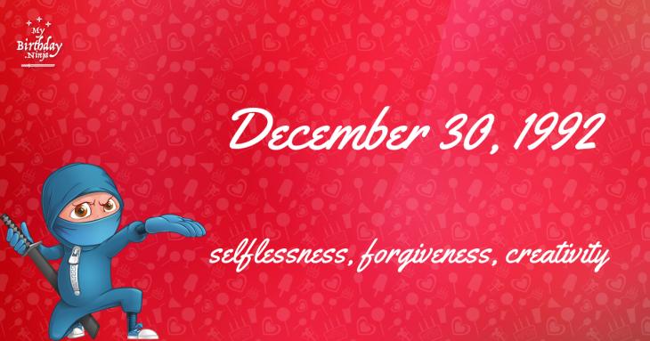 December 30, 1992 Birthday Ninja
