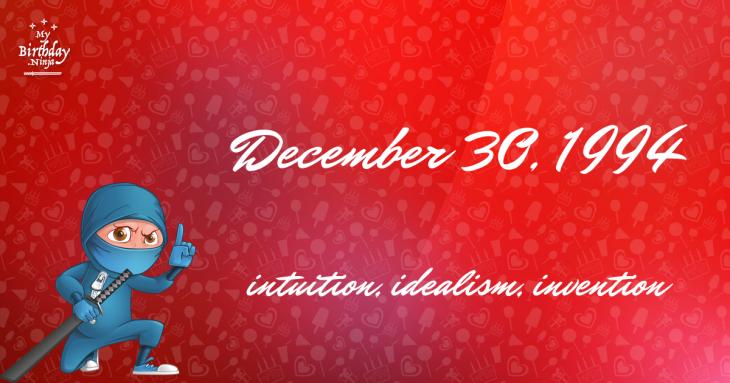 December 30, 1994 Birthday Ninja