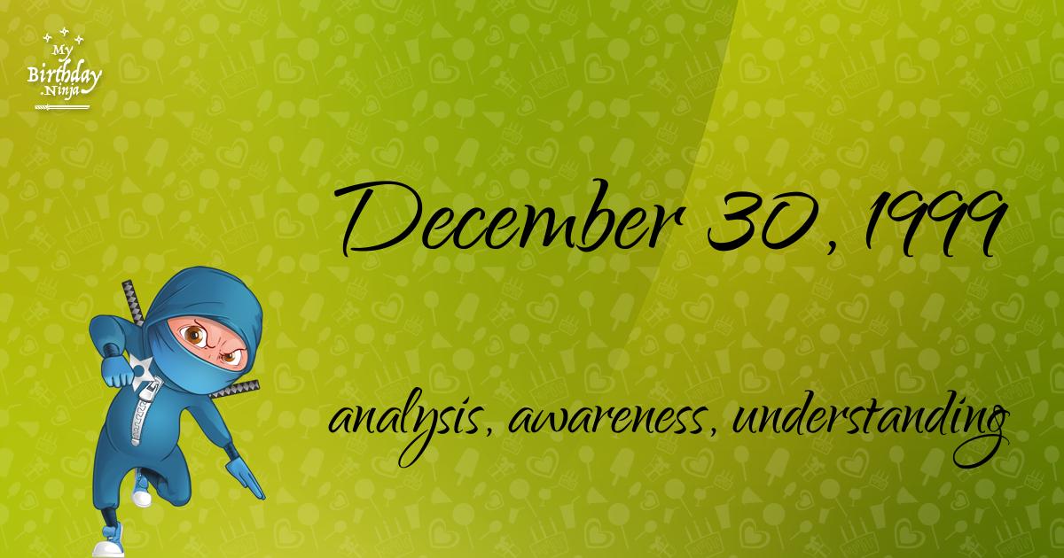 December 30, 1999 Birthday Ninja Poster