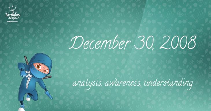 December 30, 2008 Birthday Ninja
