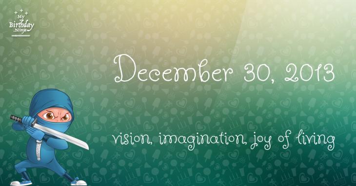 December 30, 2013 Birthday Ninja