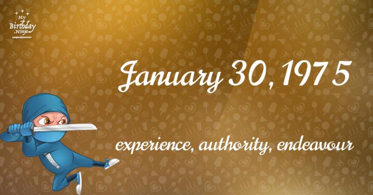 January 30, 1975 Birthday Ninja